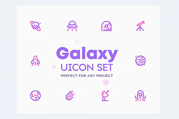 UICON - Galaxy space Icons Set