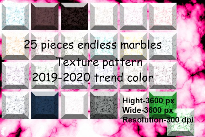 25 pieces endless marbles texture pattern 2019-2020 color