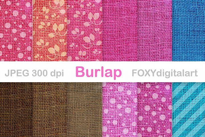 Digital paper burlap jute canvas linen rustic wedding invite