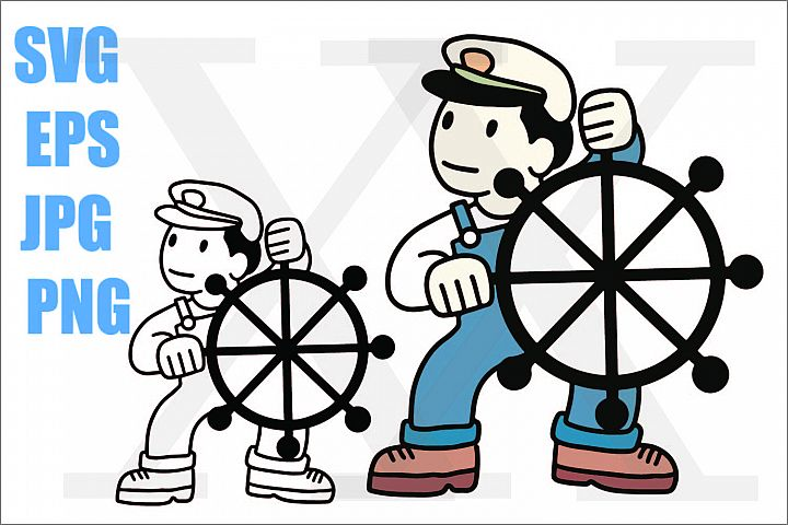 Sailor Boy - Sailor Man - SVG EPS JPG PNG