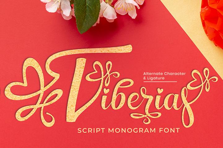 Tiberias Script Monogram Font