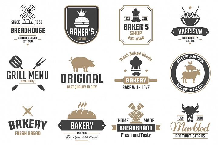 60 Vintage Logo Set example 8