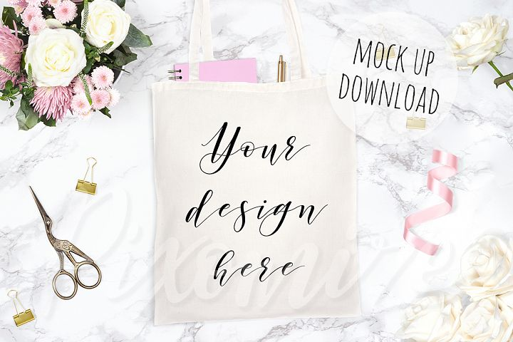 Canvas Tote Bag Mockup Photograph