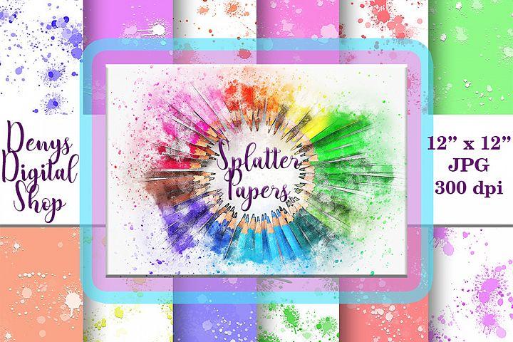 Splatter Digital Paper, Splatter Printable, Splatter, SALE