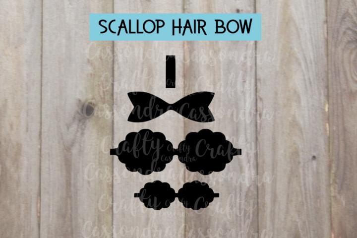 Scallop hair bow Template