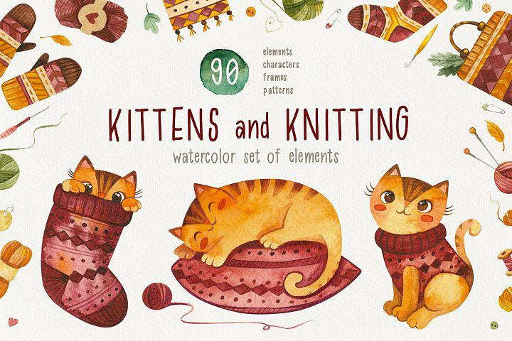 Kittens and knitting