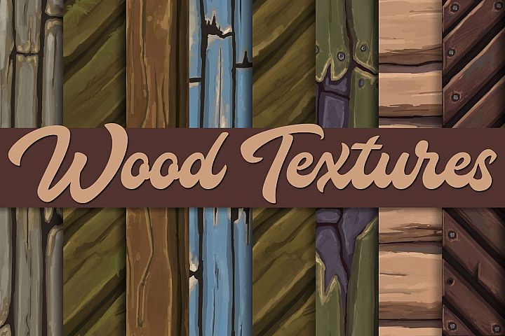 Hand-painted wood textures |Tileable