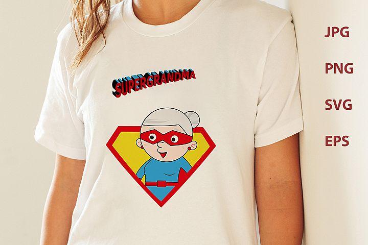 Super grandma, superhero