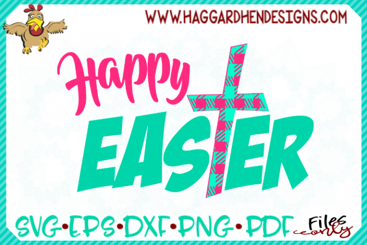 Happy Easter Plaid SVG