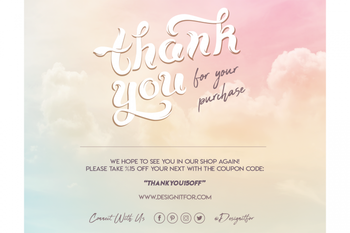 Thank You For Your Purchase Card Template, For Your Order Ca