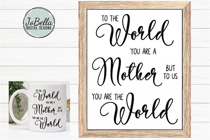 Mom SVG, Sublimation Design and Mothers Day Printable