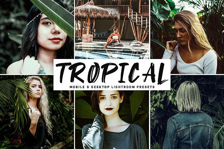 Tropical Mobile & Desktop Lightroom Presets
