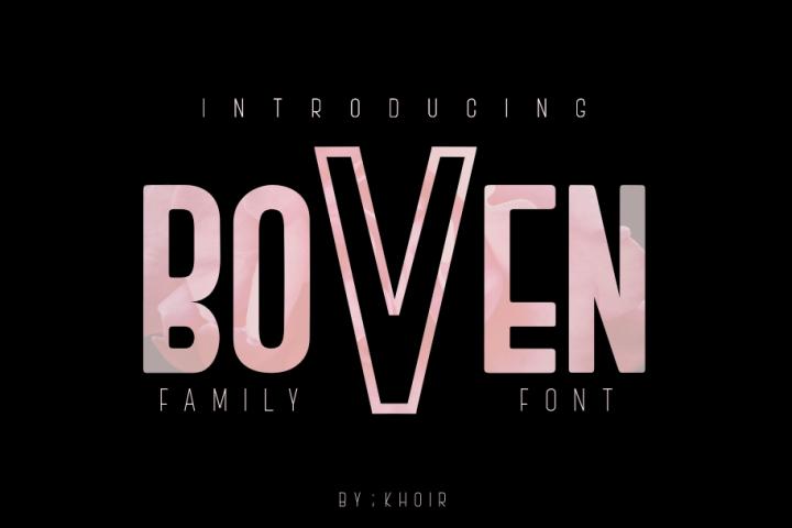 BOVEN FAMILY FONT