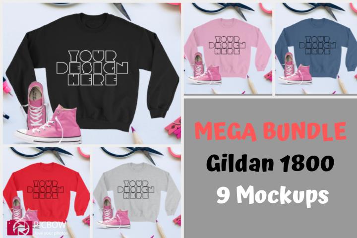 CHOTA BUNDLE Gildan 18000 Unisex Mockups Just for 3$