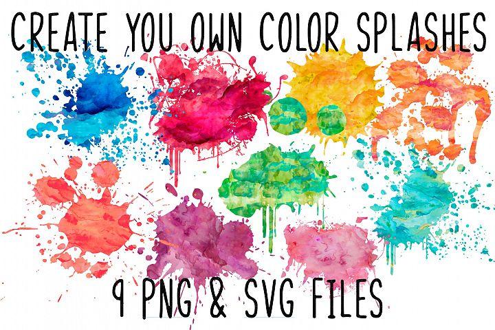 Sublimation Backgroung Colour Splashes PNG bundle