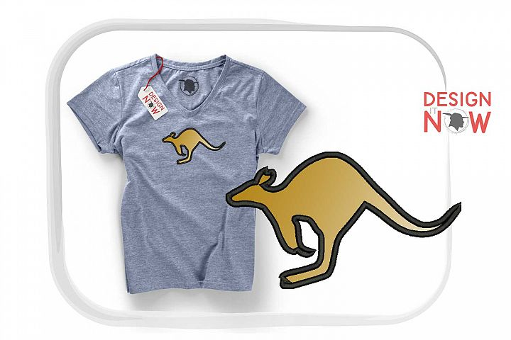 Kangaroo Applique Design, Kangaroo Embroidery Pattern