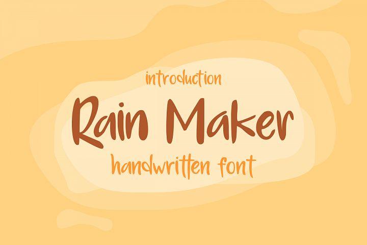 Rain Maker Handwritten Font