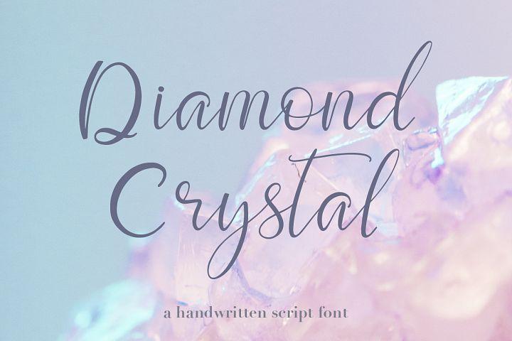 Script font Diamond Crystal