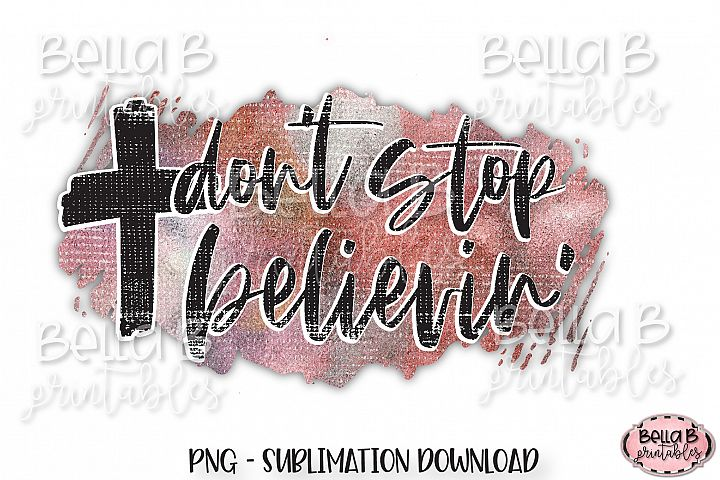 Christian Sublimation Design, Dont Stop Believin, Cross