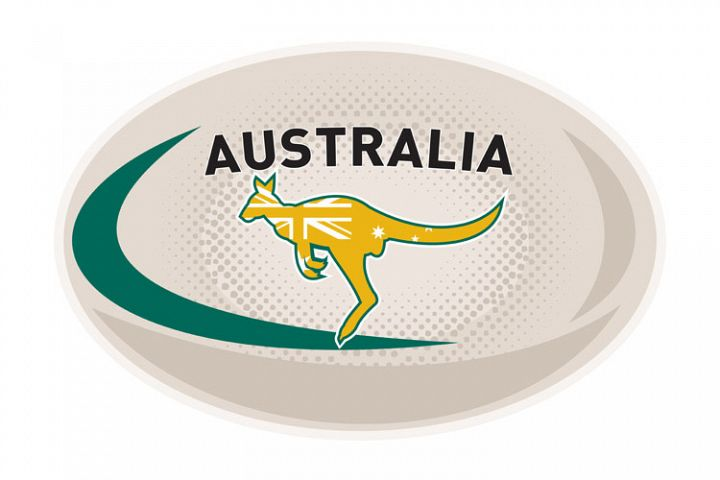 Rugby Ball Australia kangaroo wallaby