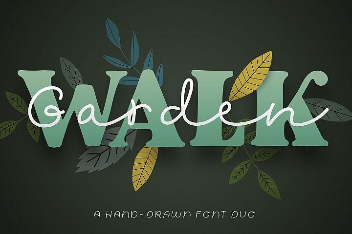 Garden Walk Font Duo