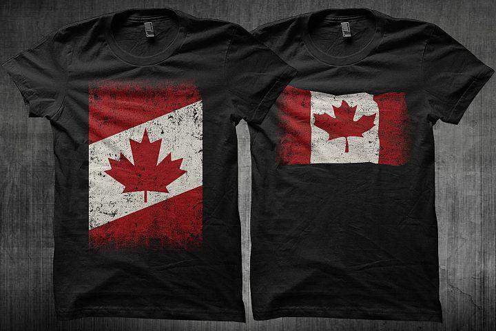 Canada Flag Distress