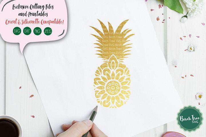 Pineapple Mandala Svg, Pineapple Svg Cut File, Beach Svg