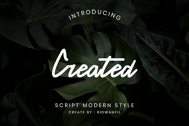 Created font - Script Modern Style