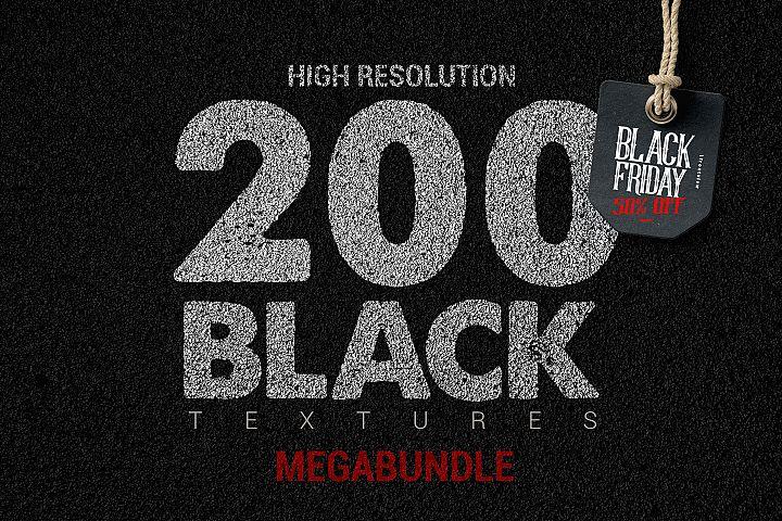 200 Black Textures Blackfriday offer