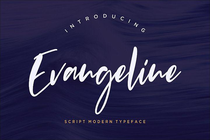 Evangeline Modern Script