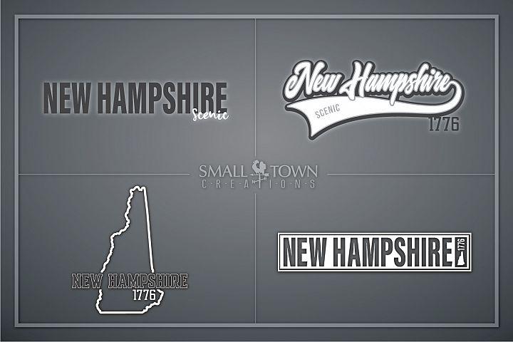 New Hampshire, Scenic - slogan, Logo, PRINT, CUT & DESIGN