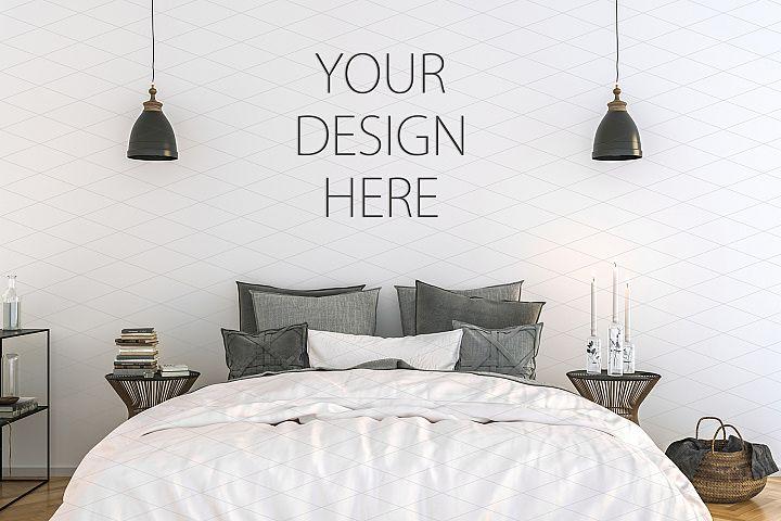 Interior mockup - artwork background - kitchen