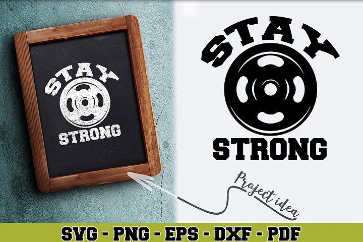 Gym SVG n259 | Stay strong