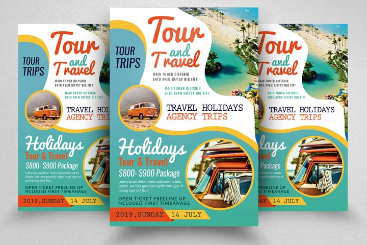 Tours and Travel Flyer Template