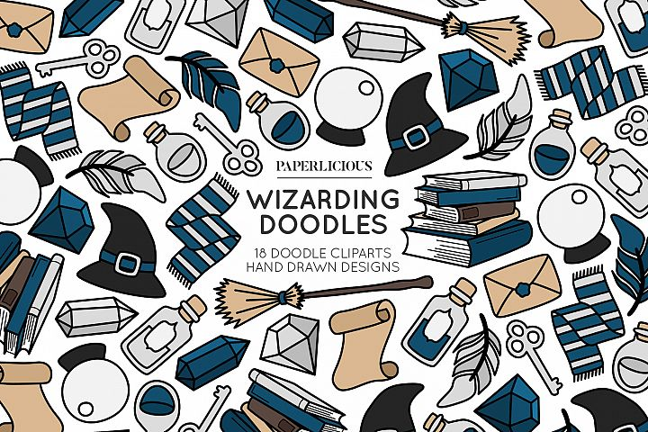 Wizarding Doodle Cliparts