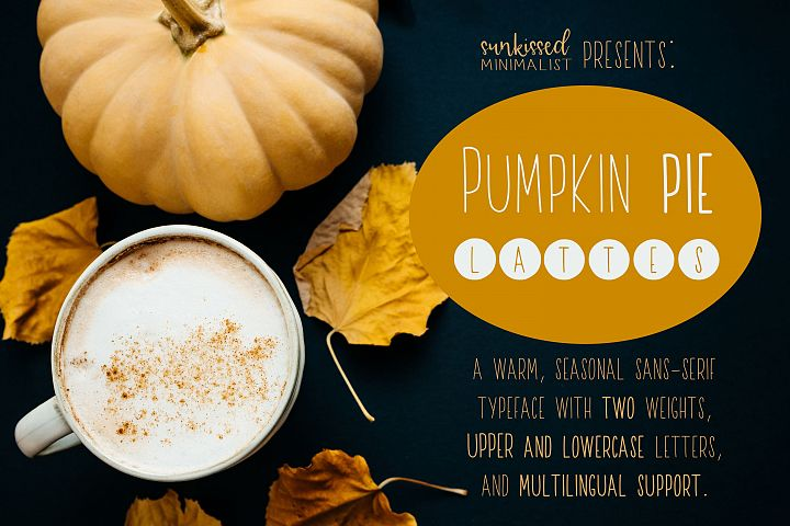 Pumpkin Pie Lattes