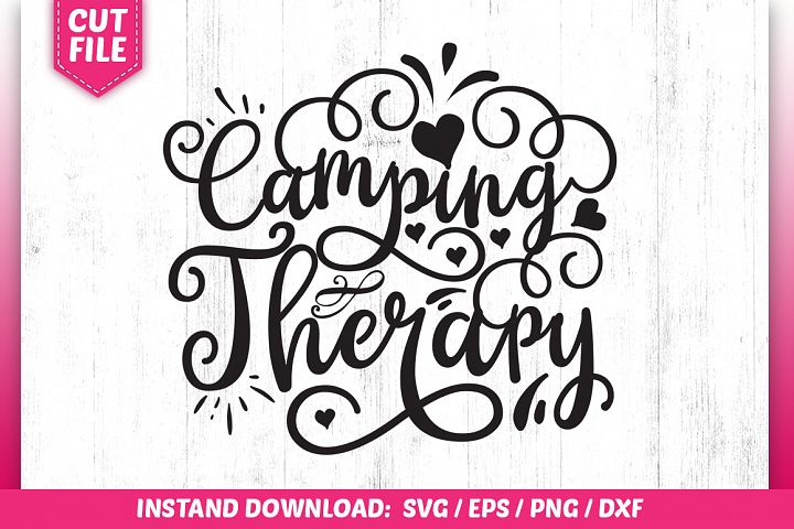 Camping therapy SVG Design