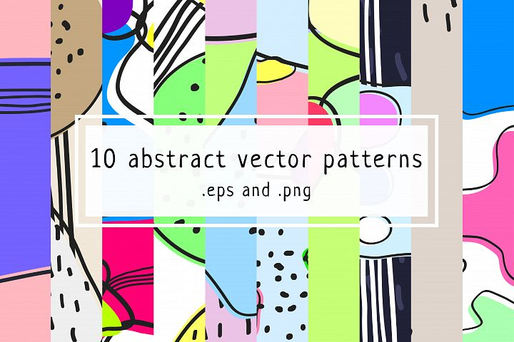 10 Abstract vector patterns