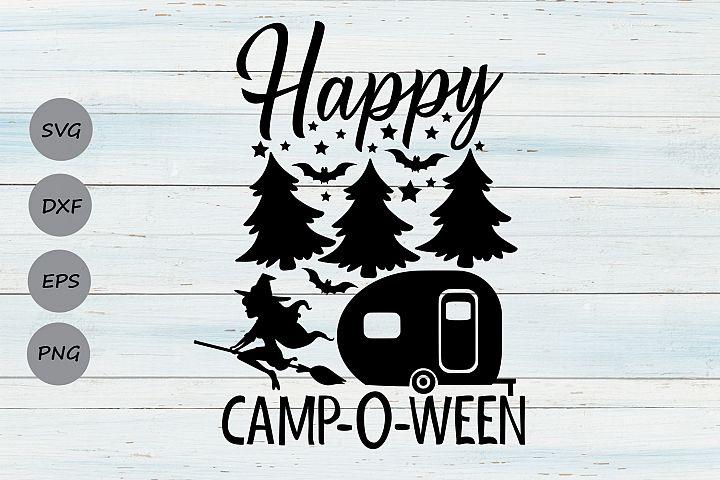 Happy Campoween Svg, Halloween Svg, Camping Svg, Camper Svg.