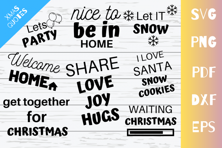 Latest Christmas Quote SVG Cut Files Bundle