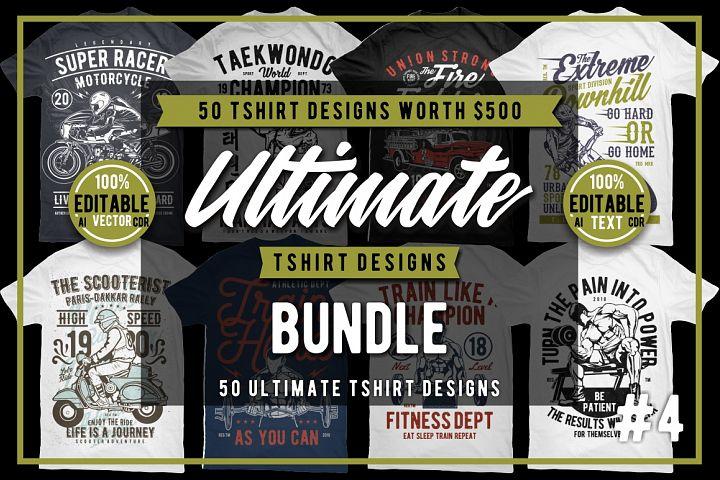 50 Tshirt Designs Bundle #4