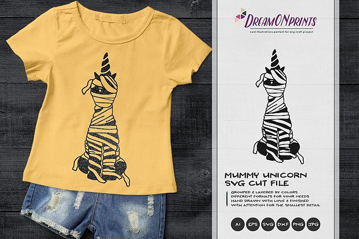 Unicorn Mummy | Funny Halloween SVG Cut File