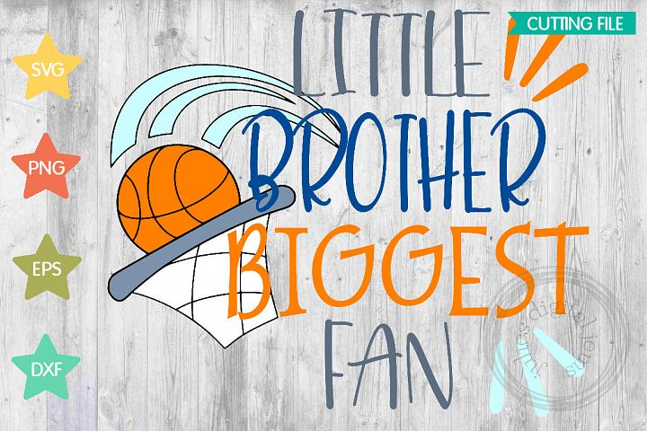 Little Brother Biggest Fan Basketball by Julies Homemade Jem