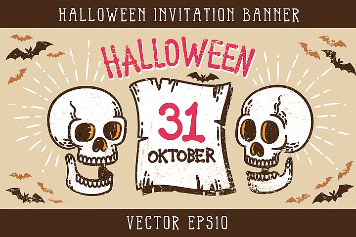 Halloween Invitation Banner