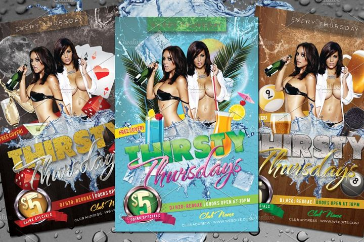 7 Sexy Summer Party Flyers Bundle
