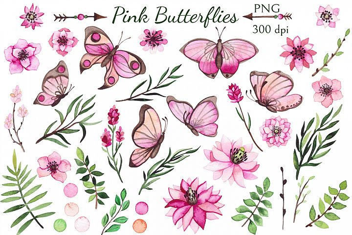 Pink Butterflies example 1