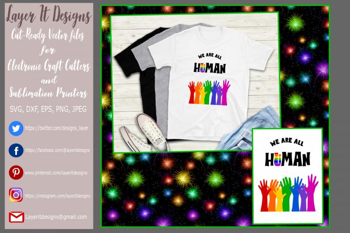 We are all Human/ Pride design Files