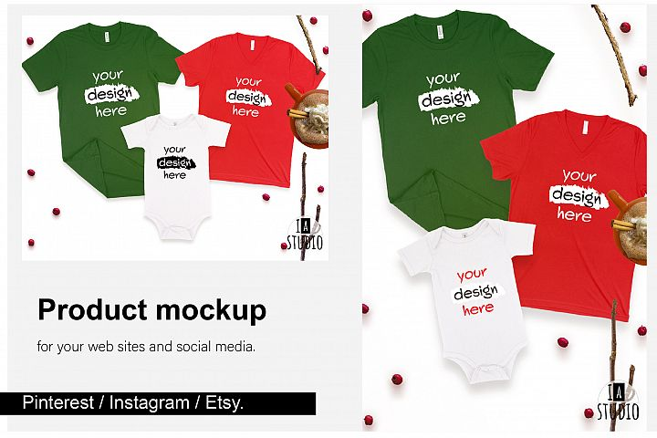 Family Christmas Mockup Set / Social Media Ready Sizes