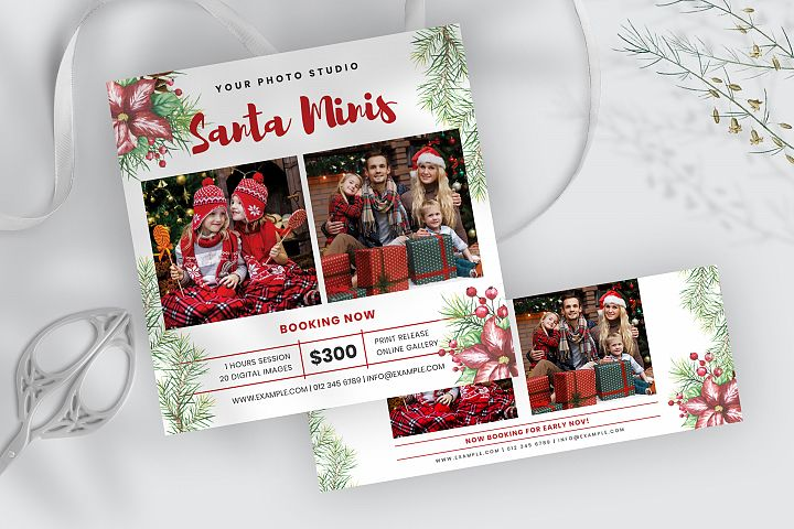 Christmas Minis Template and Facebook Cover