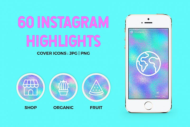 60 Holographic Instagram Covers